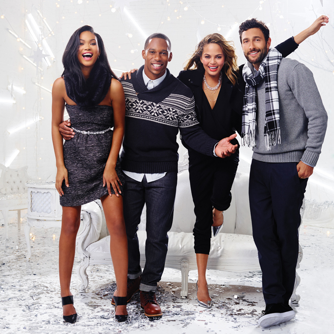 victor-cruz-chrissy-teigan-gap-factory-holiday-2014-campaign-2