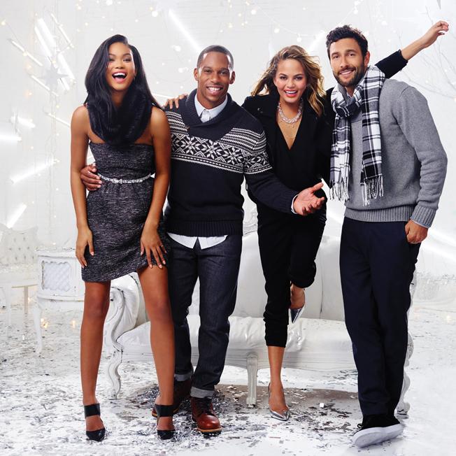 victor-cruz-chrissy-teigan-gap-factory-holiday-2014-campaign-2