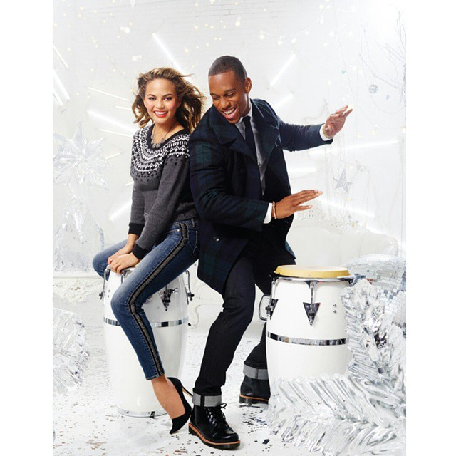 STYLE: NFL Victor Cruz For Gap Factory Holiday 2014 Campaign.