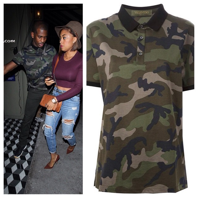 Style Chris Pauls Valentino Camouflage Polo Shirt