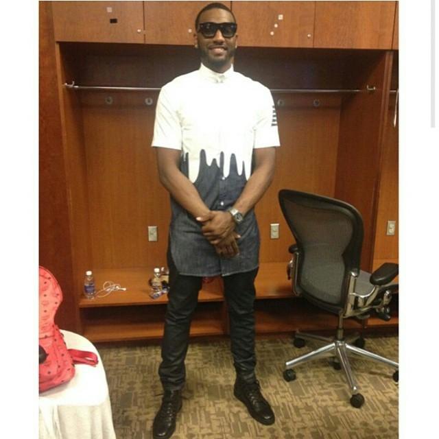 STYLE: NBA Star John Wall Wears A Long Shirt By Romper