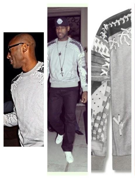 Kobe-bryant-lebron-james-victor-cruz-Givenchy-Baseball-Print-sweatshirt-2