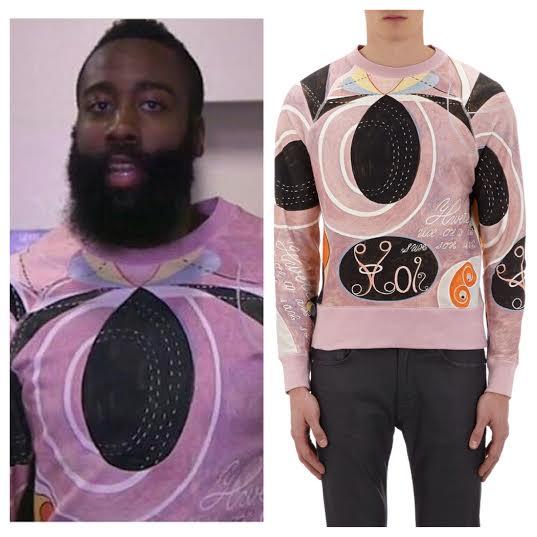 NBA-james-Harden-Acne-Studios-Hilma-af-kilma-sweatshirt
