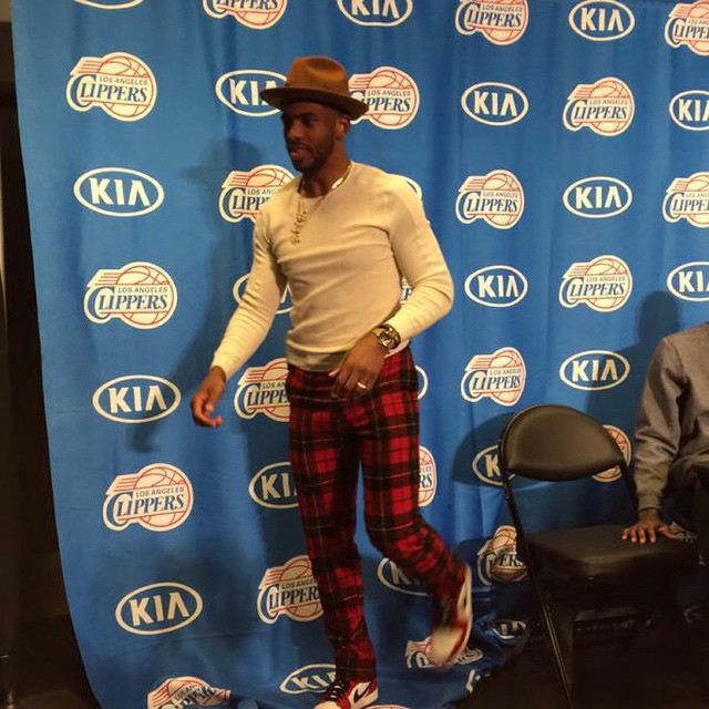 Chris-Paul-christmas-day-plaid-pants-fashion-2014