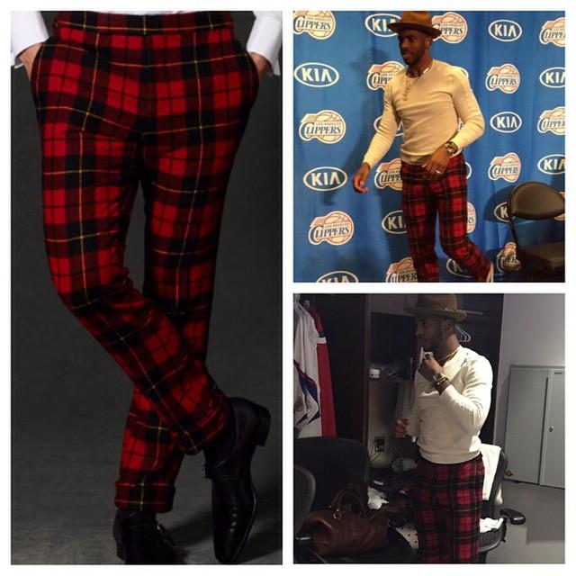 STYLE: 10 Plaid Pants Similar To NBA star Chris Paul's Christmas ...