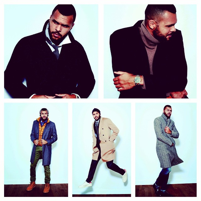 STYLE: Tennis Star Jo-Wilfried Tsonga Models Top Winter Coats & Jackets For GQ France
