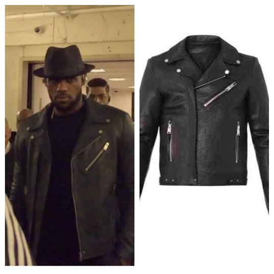 STYLE: 6 Leather Biker Jackets Like NBA Star Lebron James Wore Tonight