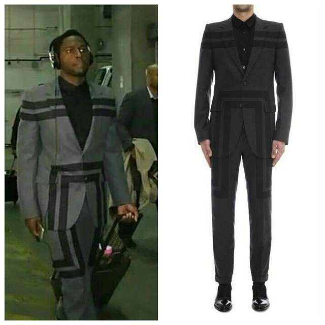 STYLE: NFL Antonio Brown's Alexander McQueen Geometric Flannel Suit