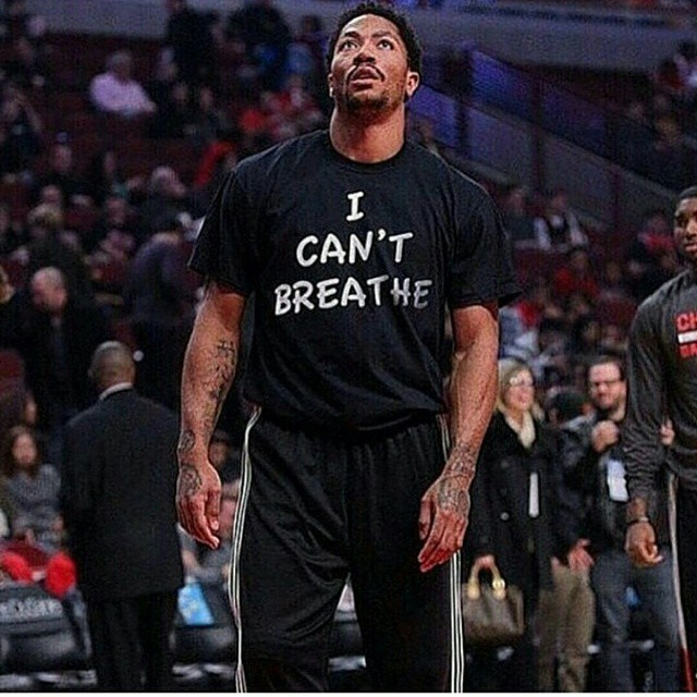 NBA Star Derrick Rose Wears 'I Can't Breathe' Shirt In Honor Of Eric Garner