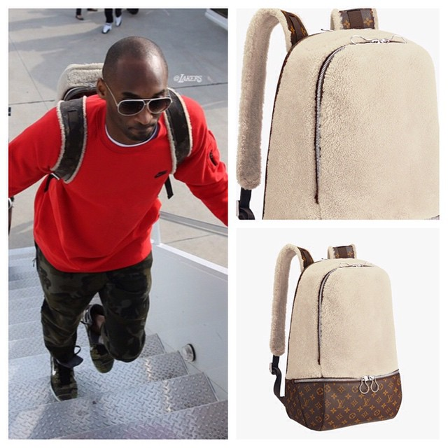 STYLE: Kobe Bryant's Louis Vuitton x Marc Newson Fleece Backpack