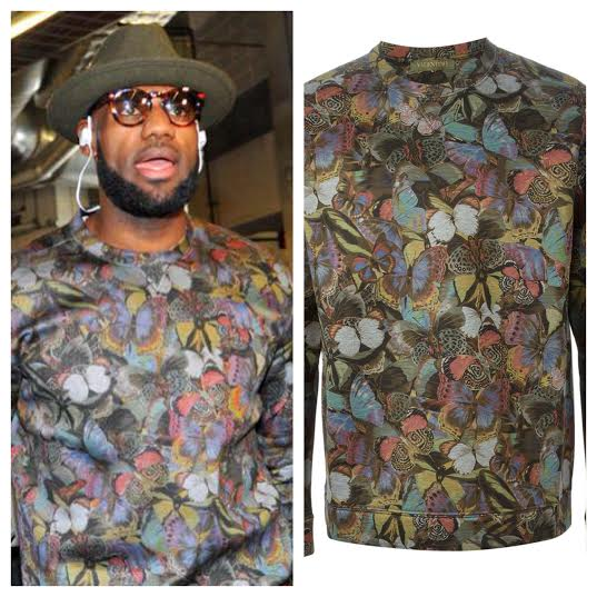 STYLE: Lebron James' Miami Return Valentino 'Butterfly' Print Sweatshirt