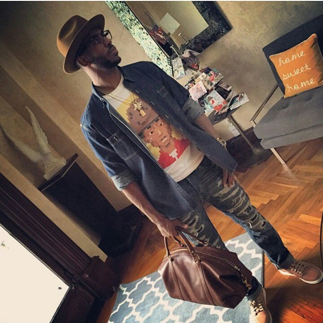 Chris-Paul-instagram-kitson-la-shirt-ralph-lauren-pants-fedora-hat