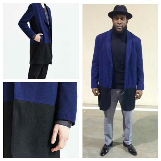 Seahawks Kam Chancellor's NFC Championship Urban Outfitters Colorblock Overcoat