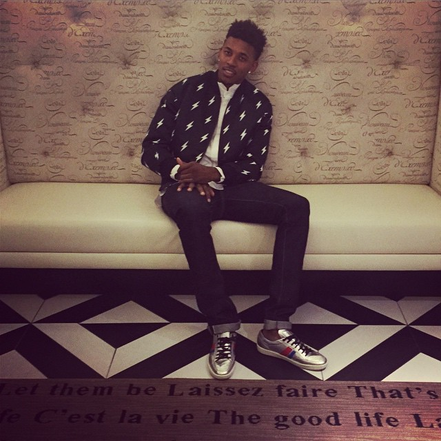 STYLE: NBA Nick Young's NYE Neil Barrett Woven 'Lightening' Bomber Jacket