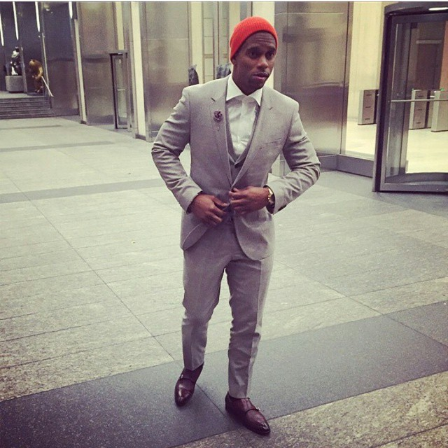 STYLE: NFL Victor Cruz Thanks Hugo Boss For His First Ever 3-Piece Suit