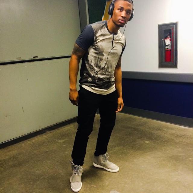 STYLE: NBA Damian Lillard Wears Adidas Yeezy 750 Boost Sneakers