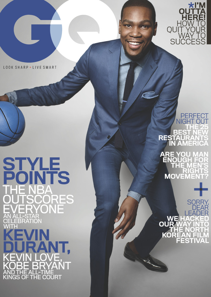 2015 Gq Men Of The Year Party In Los Angeles: Kobe Bryant VS. Kevin Durant: GQ Magazine March 2015 Cover