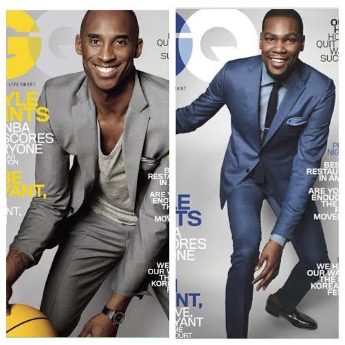 Kobe Bryant VS. Kevin Durant: GQ Magazine March 2015 Cover