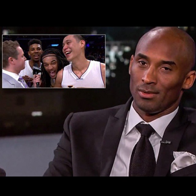 VIDEO: Kobe Bryant Visits Jimmy Kimmel Live, Reacts to Lakers Postgame Celebration