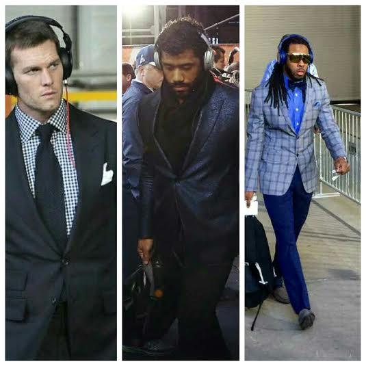 Super Bowl Weekend Fashion: Tom Brady, Russell Wilson, Richard Sherman, & More