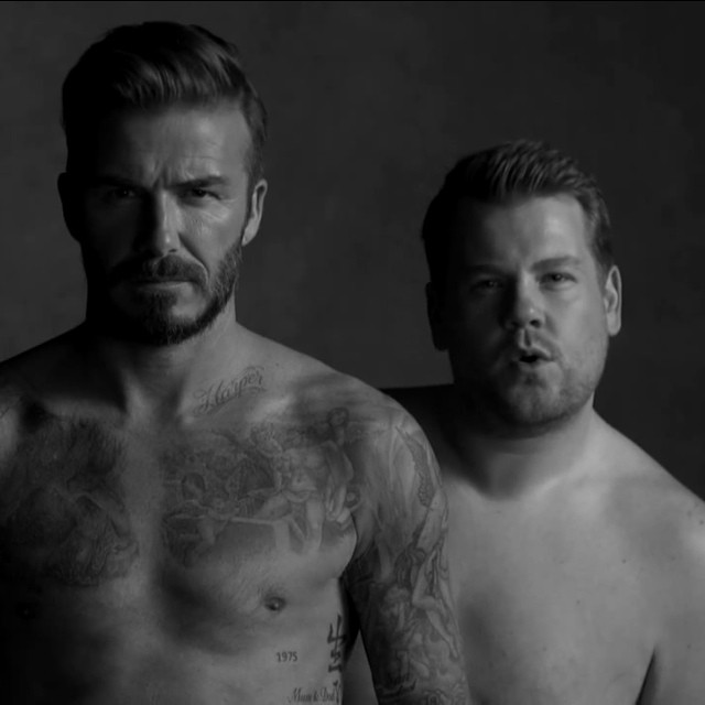 VIDEO: Hilarious David Beckham For H&M Underwear Spoof With 'The Late Show' Host James Corden
