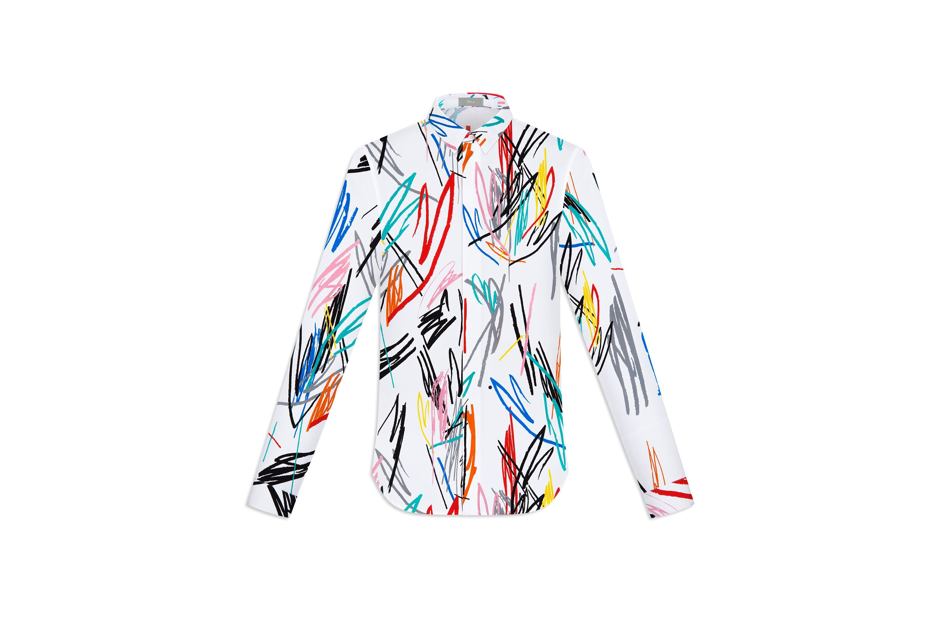 Dior-Homme-spring-2015-scribble-shirt-1