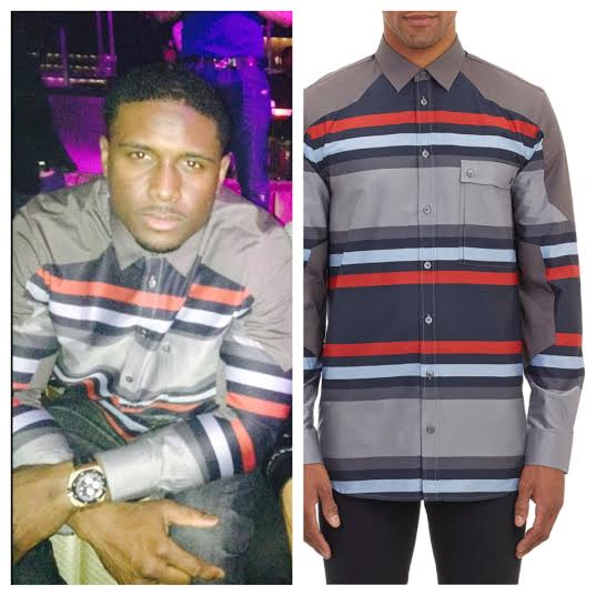 STYLE: NFL Free Agent Reggie Bush Wears Givenchy Mixed Stripe Shirt