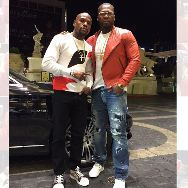 STYLE: Floyd Mayweather's Alexander McQueen Spring 2015 Abstract Contrast Red, White, and Black Sweater