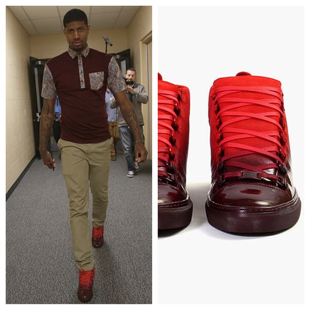 "STYLE: NBA Paul George Returns In Balenciaga Arena ""Gradient Pack"" Sneakers."