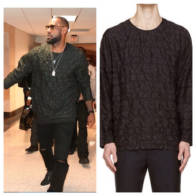 STYLE: Lebron James' 3.1 Phillip Lim Stitched Silk Shirt