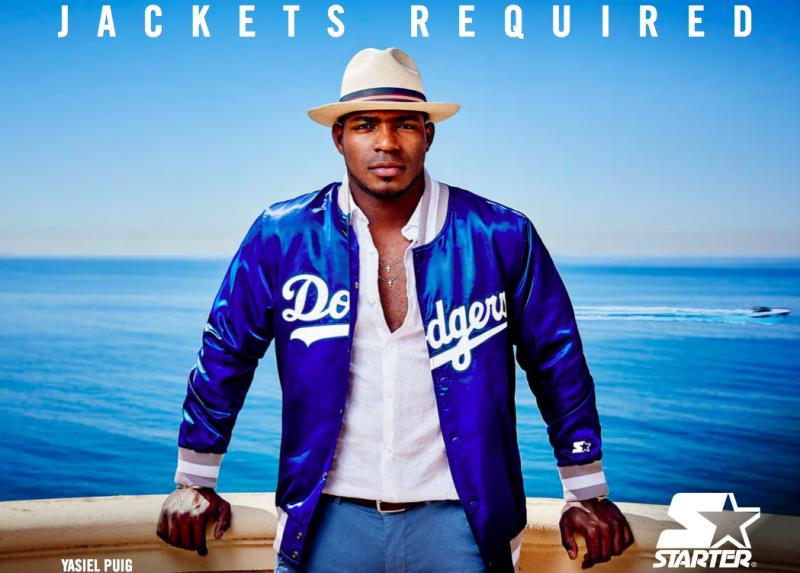 "LA Dodgers Yasiel Puig Named New Face Of Starter's ""Jackets Required"" Campaign"