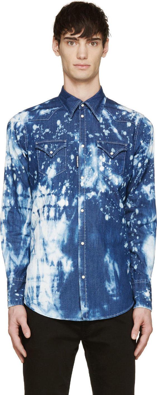 Dsquared2-tye-dye-denim-shirt