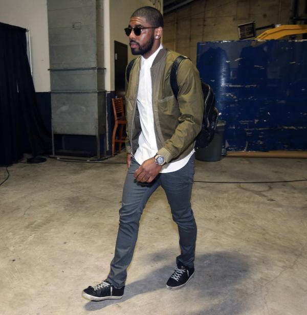 15 Jackets Like Kyrie Irving's 2015 NBA Finals Game 1 Olive Bomber Jacket