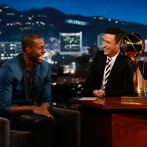 STYLE: NBA Andre Iguodala Wears Lanvin Tuxedo Blazer On Live With Jimmy Kimmel, Talks Guarding Lebron James And More