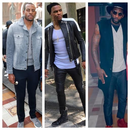 STYLE: NBA Andre Iguodala, Russell Westbrook And Amare Stoudemire Attend Paris Fashion Week Summer 2016.