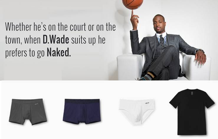 Celebrate National Underwear Day With Naked And Dwyane Wade