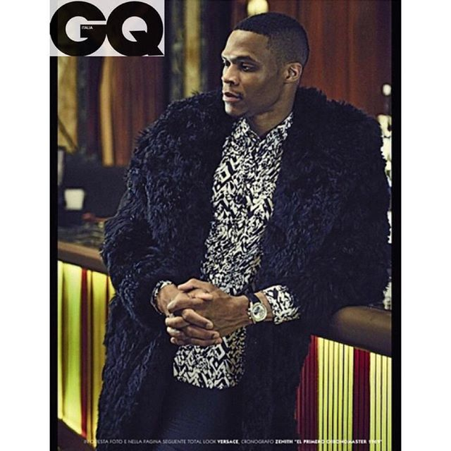 Russell Westbrook Wears Versace For GQ Italia August 2015