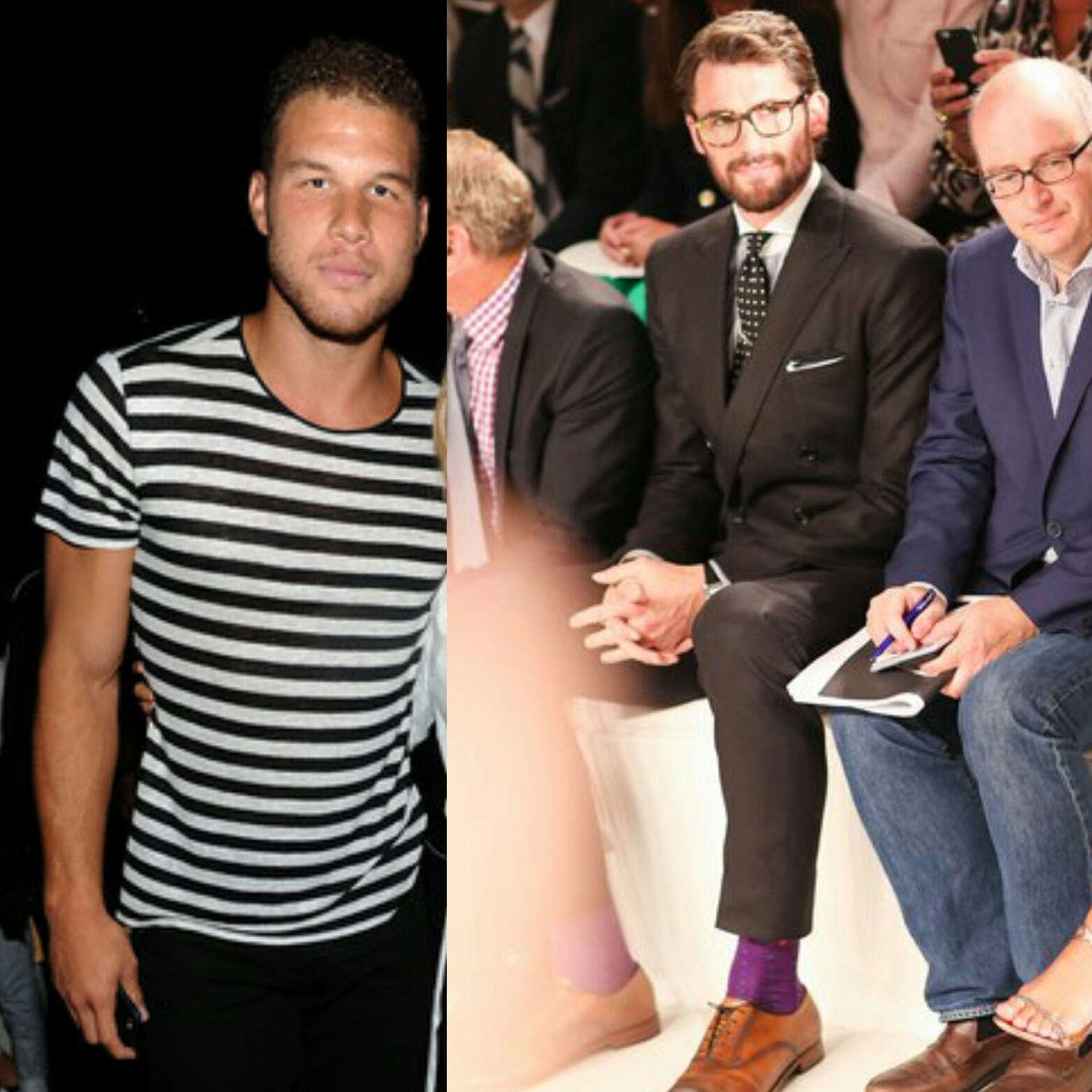 NBA Blake Griffin & Kevin Love Attend Their First-Ever New York Fashion Week