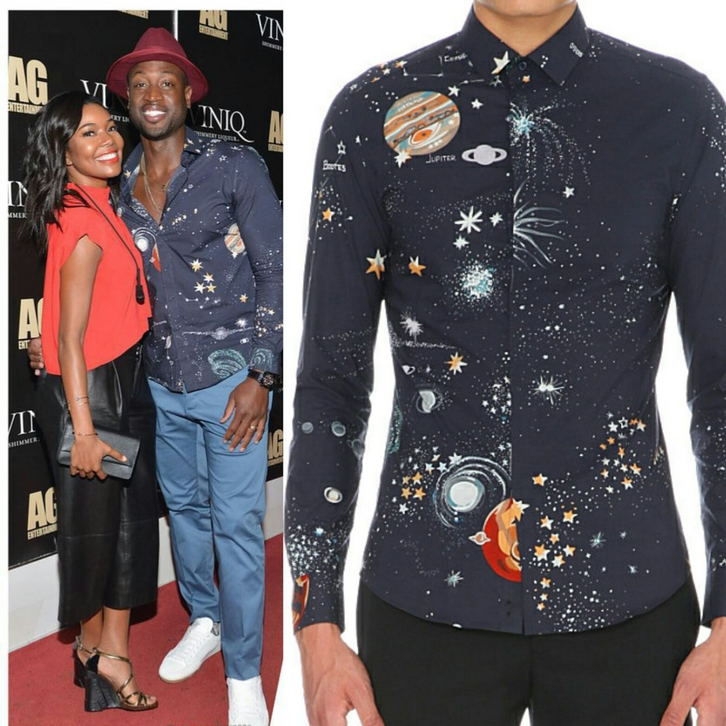 STYLE: Dwyane Wade Wears Valentino Cosmo Planet Shirt For Bowling Tournament