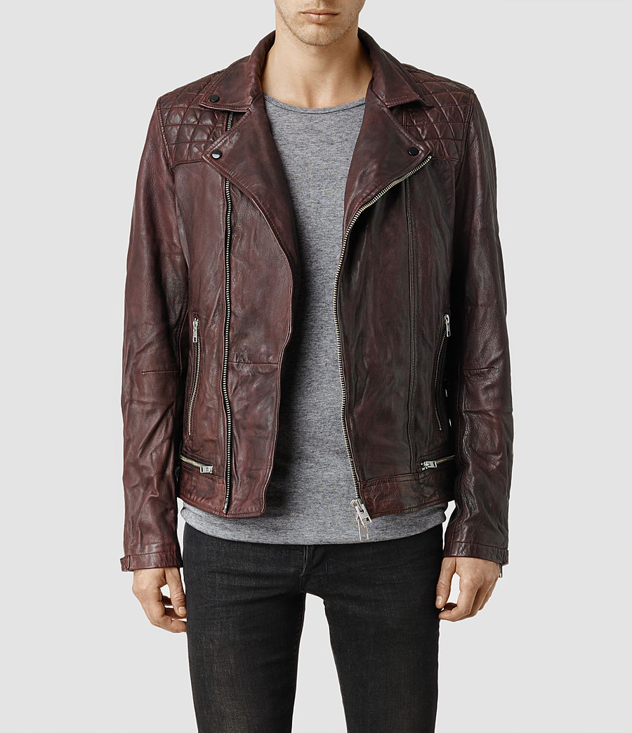All saints leather jackets men