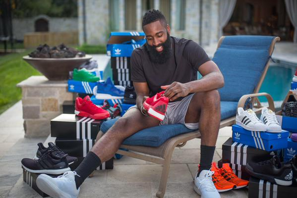 James Harden Was Blessed With A Truckload Of Adidas Sneakers