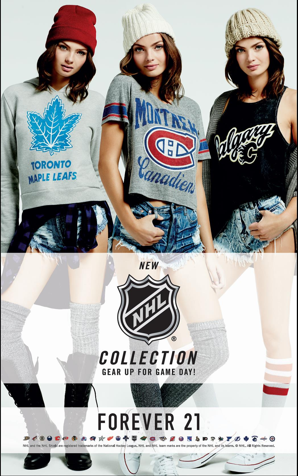 Forever 21 Launches New NHL Hockey Collection