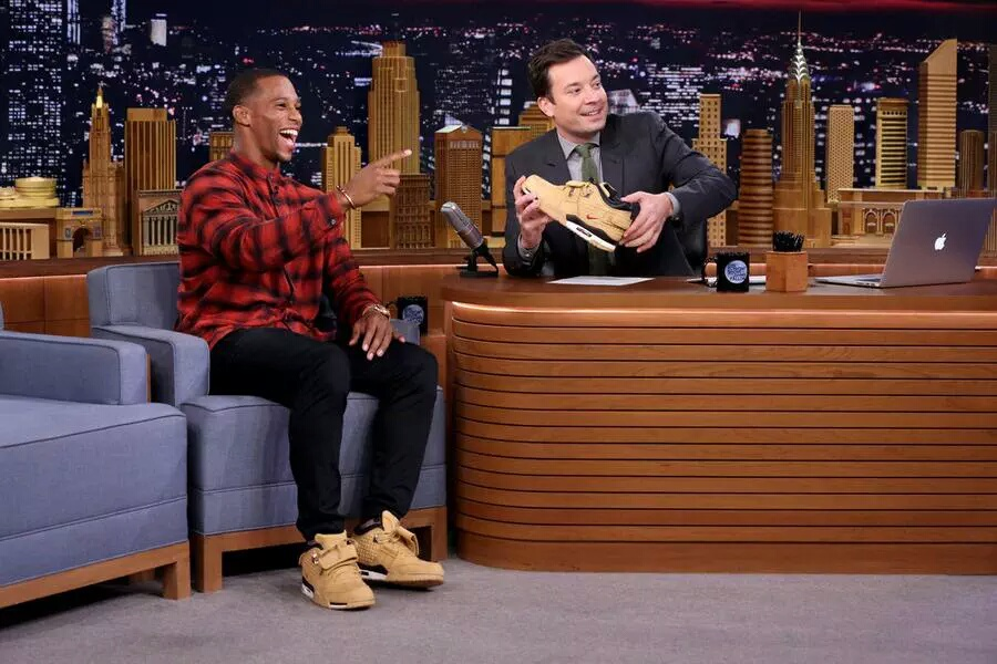 NFL Victor Cruz Debuts First Signature Sneaker, Doc on Fallon's The Tonight Show