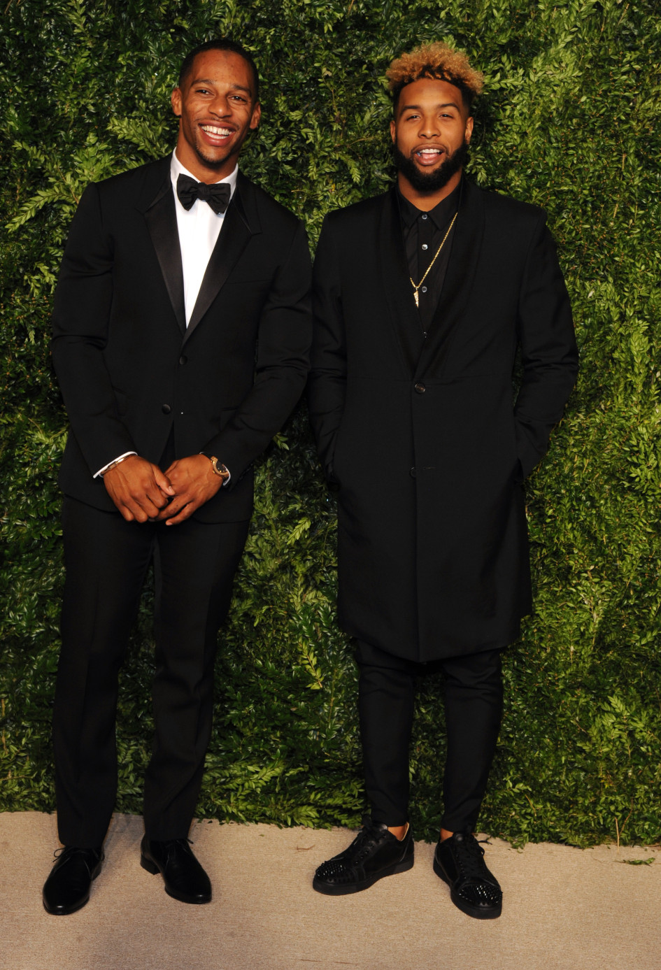 Giants Victor Cruz And Odell Beckham Jr. Attend CFDA/Vogue Fashion Fund Awards 2015