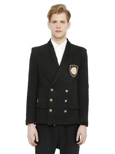 Balmain-embroidered-double-breasted-sweatshirt-jacket