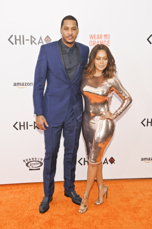 NBA Carmelo Anthony Attends CHI-RAQ Movie Premiere