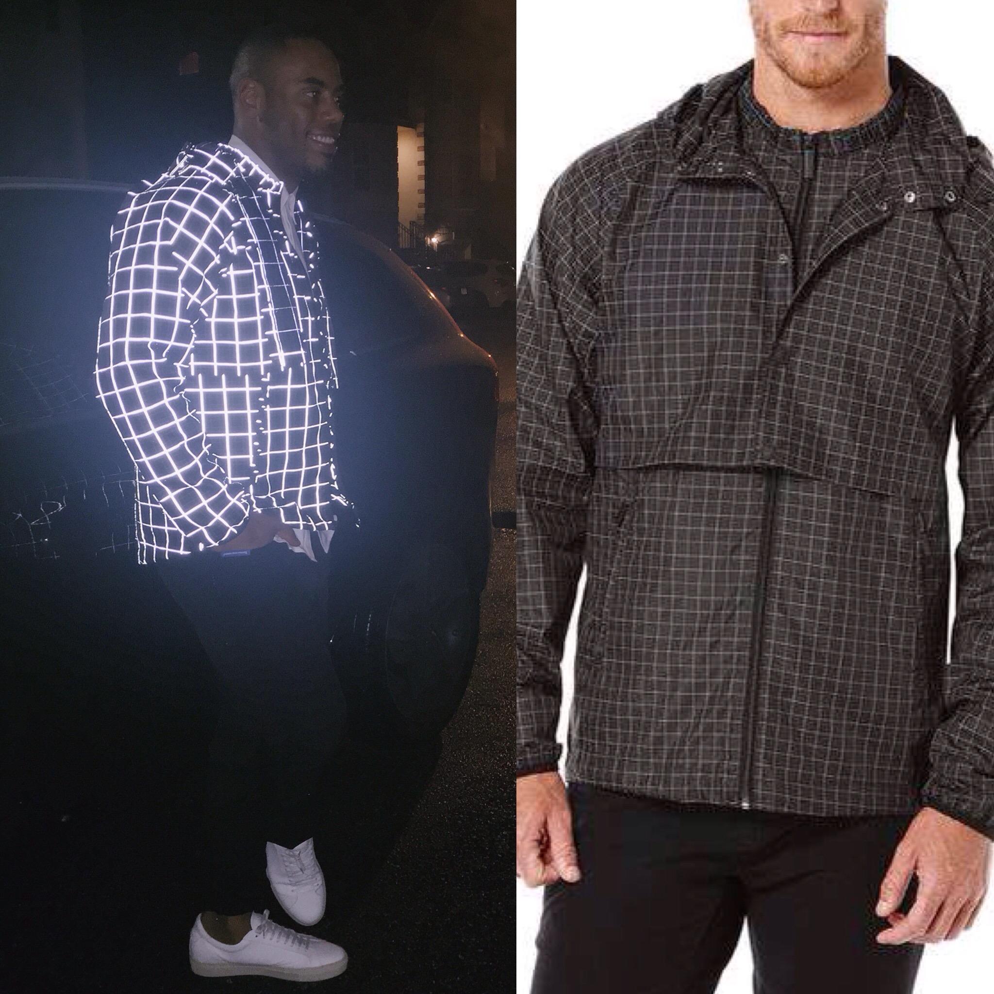 Black grid nike jacket