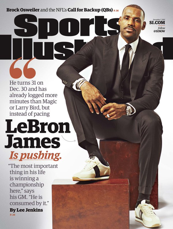 Lebron James Covers Sports Illustrated Magazine in Tom Ford Suit