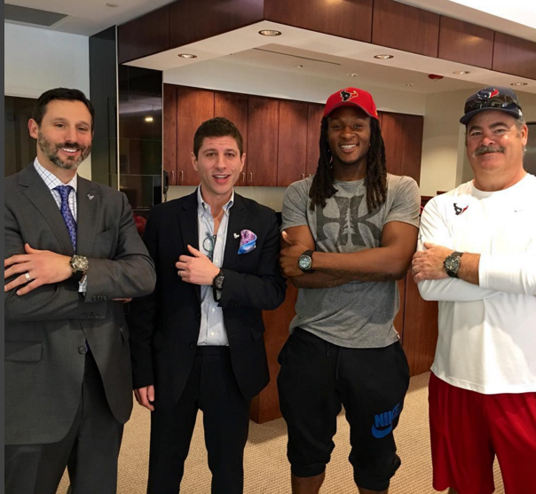NFL Deandre Hopkins' Instagram Waltham Luxury Watch