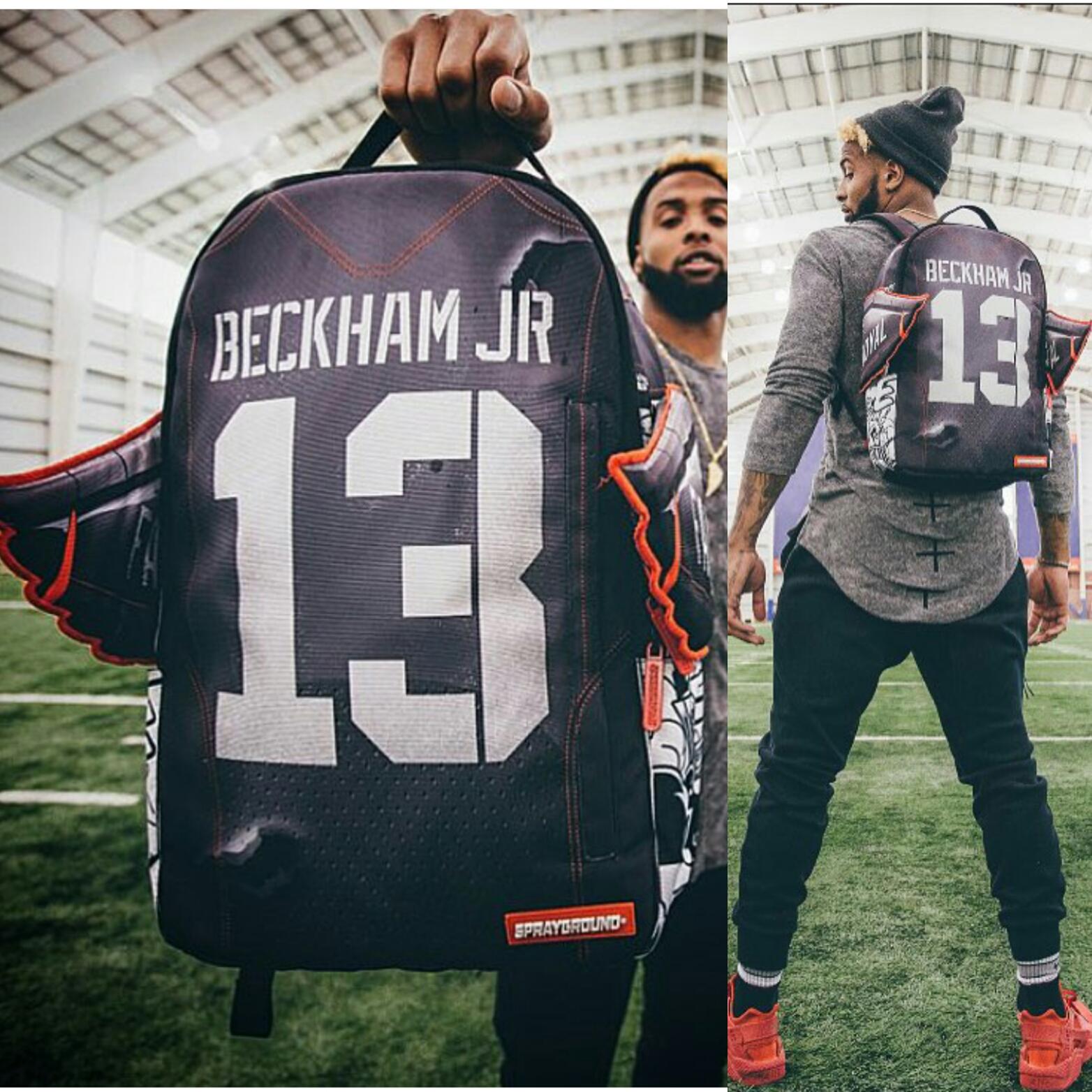 NFL Odell Beckham Jr. Teams With SprayGround, Designs Limited Edition Backpack